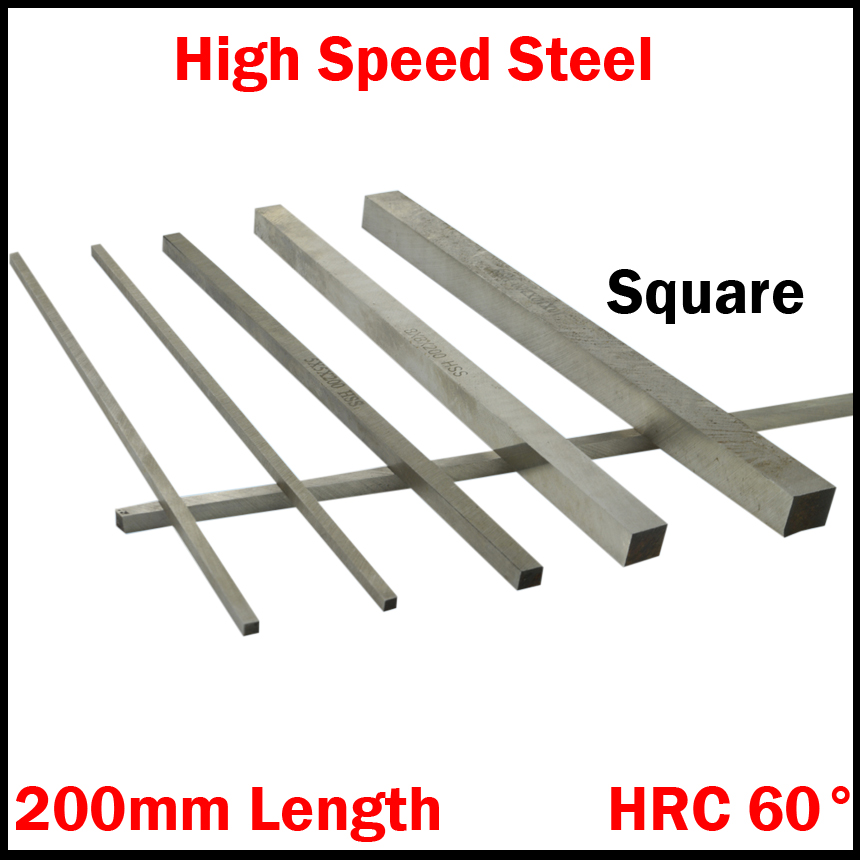 3*3*200mm 3x3x200mm 4*4*200 4x4x200 5*5*200 5x5x200 HRC60 HSS Square Metalworking Boring Bar Fly Cutter Cutting Lathe Tool Bit