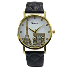 Paris Eiffel Tower Women Faux Leather Analog Quartz Wrist Watch Watches Women PU Leather Analog Quartz Wrist watch women 4/