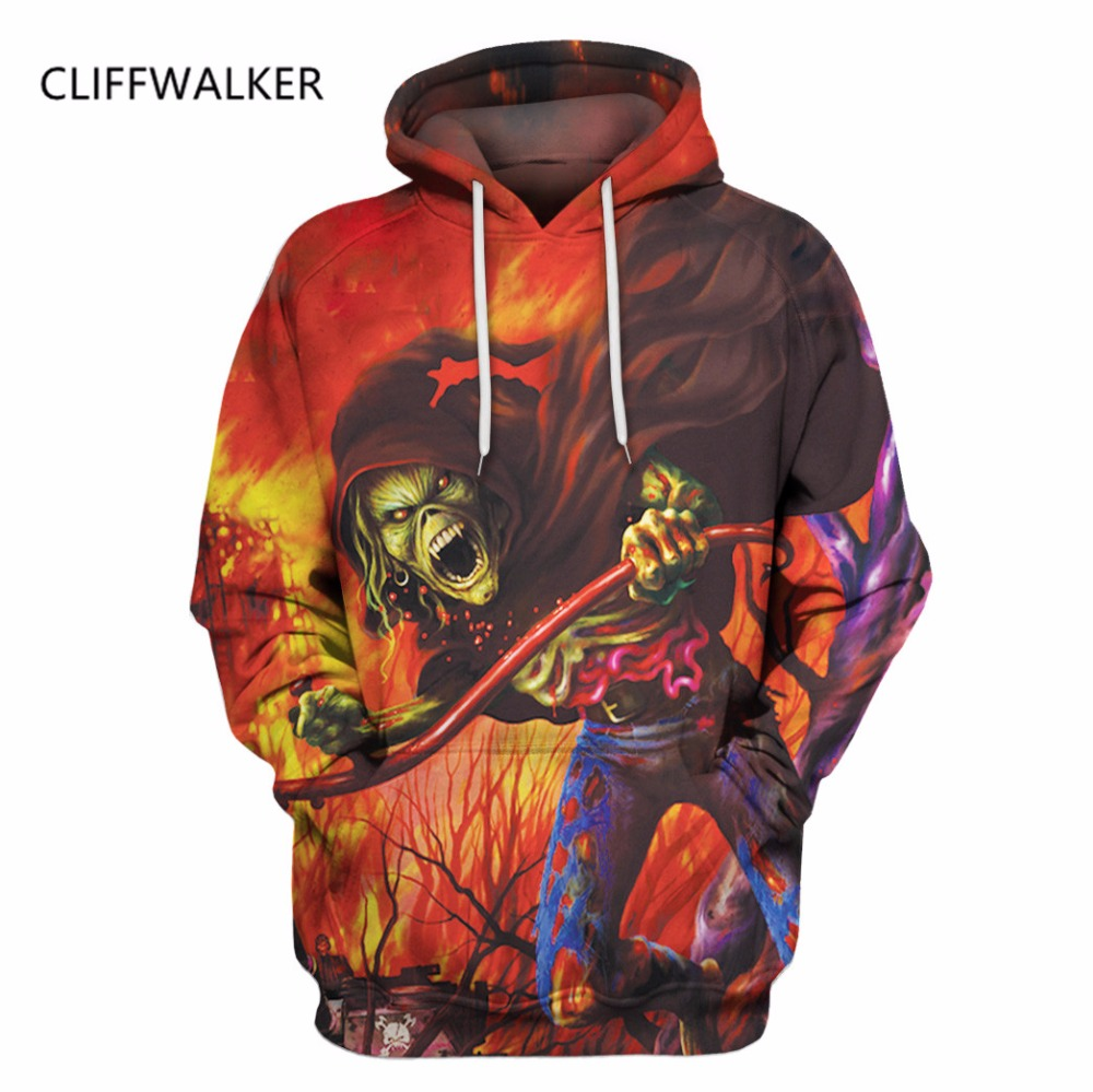 Dropshipping New Fashion For Men Women Burning Flame Skull Hoodies 3D Hooded Sweatshirts Pullovers Autumn Winter Tracksuit