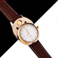 Men Militar Lighter Watch Wristwatches Windproof Flameless Cigarette USB Charging Sports Clock Men S Quartz Watch