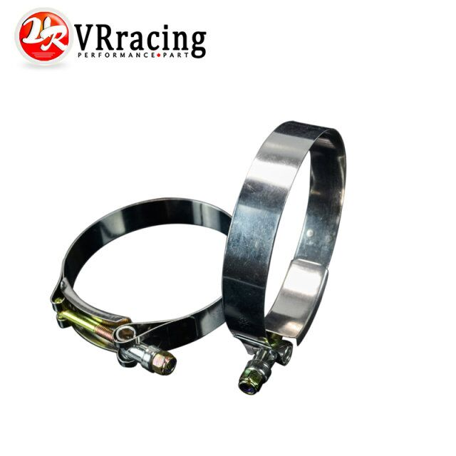 VR RACING - (2PC/LOT) 3.5 CLAMPS (92-100)STAINLESS SILICONE TURBO HOSE COUPLER T BOLT CLAMP KIT HIGH QUALITY VR5256