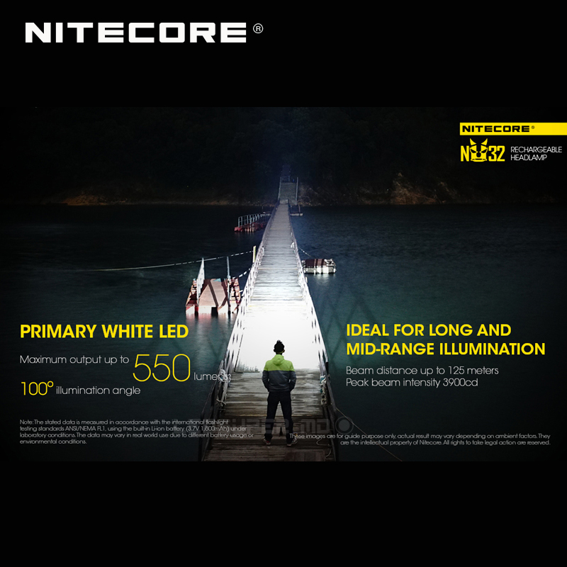 Image 3 - ホット販売 Nitecore NU32 CREE XP G3 S3 LED 550 ルーメン高性能充電式ヘッドランプ内蔵リチウムイオン電池    グループ上の ライト