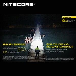 Image 3 - ホット販売nitecore NU32 cree XP G3 S3 led 550ルーメン高性能充電式ヘッドランプ内蔵リチウムイオン電池