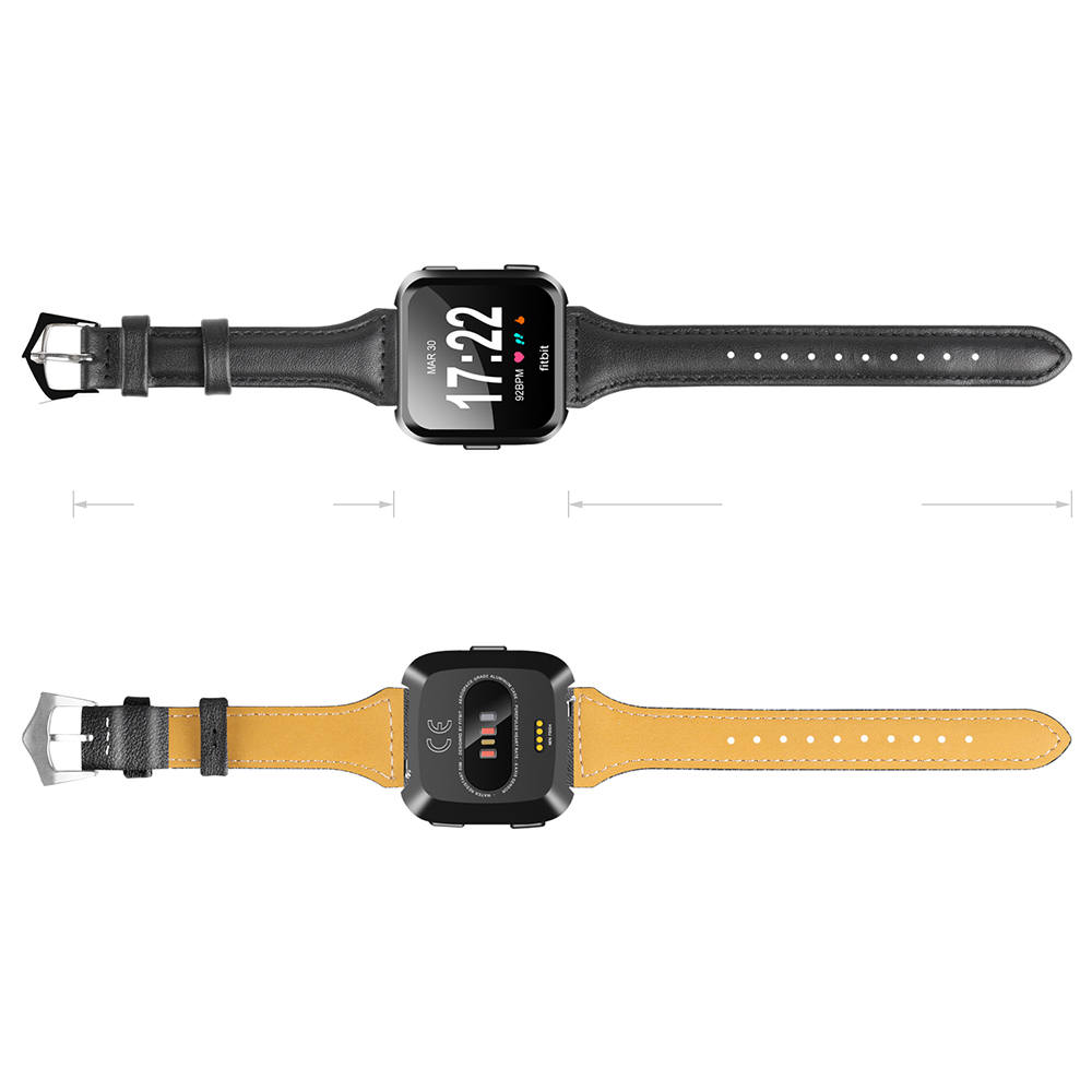 Replacement Leather Watch Band Straps for Fitbit versa Band Watchband Bracelet Belt Smart wristbands for Fitbit versa wrist band in Watchbands from Watches