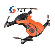 Wingsland S6 Pocket Selfie WiFi FPV Drone Quacopter 4 Axis with 4K HD Camera Propeller RTF Orange