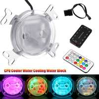 LEORY G1/4 CPU Cooler Water Cooling Water Block with Controller LED Colorful Light for Intel AM2 AM3 AM4