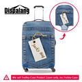 Dispalang Pocket Pattern Elastic Travel Luggage Protective Covers Denim Stretch Suitcase Protect Cover Apply to 18-30 Inch Case