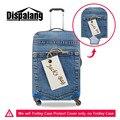Dispalang padrão bolso elástico mala de viagem bagagem tampas de proteção denim stretch proteger caso capa aplicar para 18-30 polegada