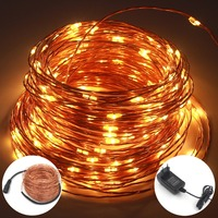 AISTARRY 98FT 30M 300LEDs DC12V Waterproof LED String Light Copper Wire String Light With Power Adapter