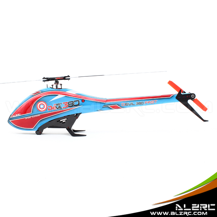 ALZRC-Devil 380 FAST FBL Super RC Helicopter KIT Aircraft RC Electric Helicopter 480FBL Frame kit Power-driven Helicopter Drone alzrc devil 380 fast fbl super combo black rc 380 helicopter