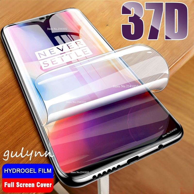 37D Full Protective Film On The For Oneplus 6 6T 7 7Pro Hydrogel  Oneplus6 Pro HD Screen Protector Not Glass