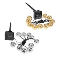 3 M 10LED Zonne-energie Operated String Fairy Licht Kwaliteit Waterdicht Zonne-verlichting Outdoor Xmas Tuin Bal Lamp