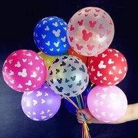12inch 2 8g 30 Pcs Lot Balloons Birthday Party Mickey Mouse Balloons Mickey Head Printed Latex
