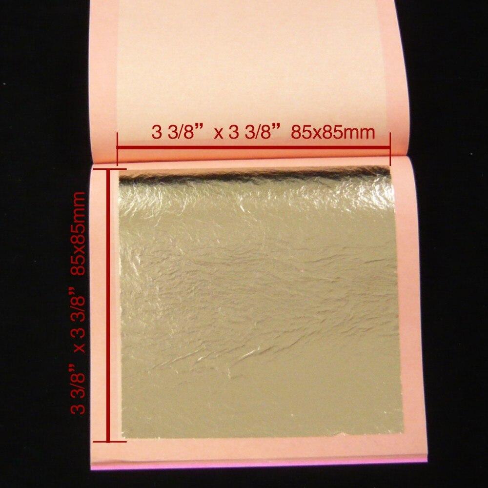 Gold Sheets Paper 100 Feuilles d/' or 24 carats 24K Veritable 8 cm x 8.5 cm