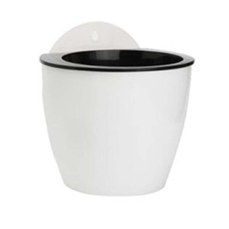 Висячий горшок для растений плантатор настенная ваза самополив автоматический самополив цветок положить в пол Сад Крытый дом деко - Цвет: L