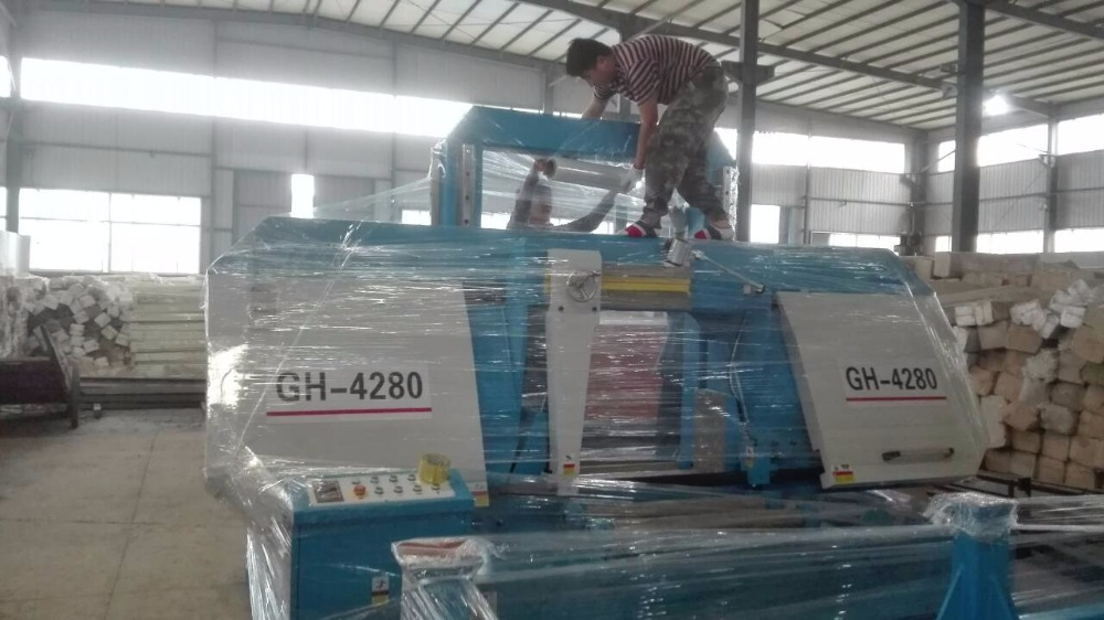 GH-4280 гидравлический ленточная пила металла станок, резки инструменты
