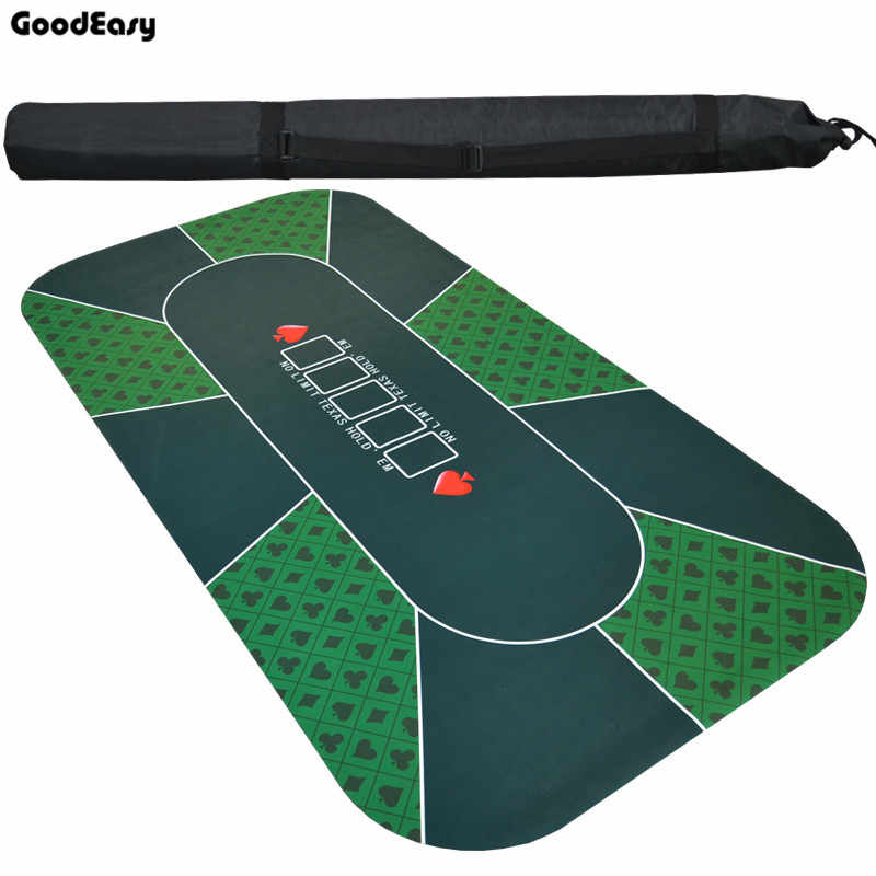 180*90cm Suede Rubber Texas Hold'em Casino Poker Tablecloth Green Board Game Mat with Flower Pattern High Quality