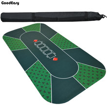 -180*90cm Suede Rubber Texas Hold'em Black Jack 21Points Baccarat Casino Poker Tablecloth Green/Blue Board Mat Flower Pattern цена