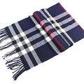 Бесплатная доставка высокое качество мужские кашемировые шарфы оптовая продажа классический плед бахромой шарфы для мужчин и женщин