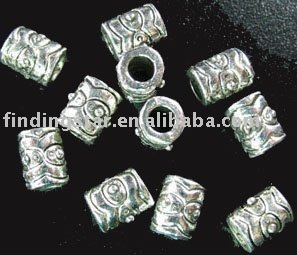 FREE SHIPPING 450pcs Tibetan silver eyed wave barrel spacers A674