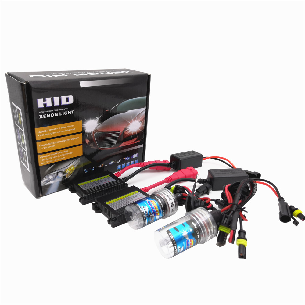 55W H4 H1 H3 xenon <font><b>H7</b></font> H8 H10 H11 H27 HB3 HB4 H13 9005 9006 H9 Slim Ballast kit Xenon Hid Car light source Headlight bulbs lamp image