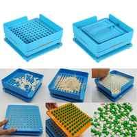 0 # máquina cápsula ABS 6pcs cápsulas ferramentas 100 buracos manual da cápsula enchimento de enchimento máquinas tamanho 0 encapsuladora manual máquina