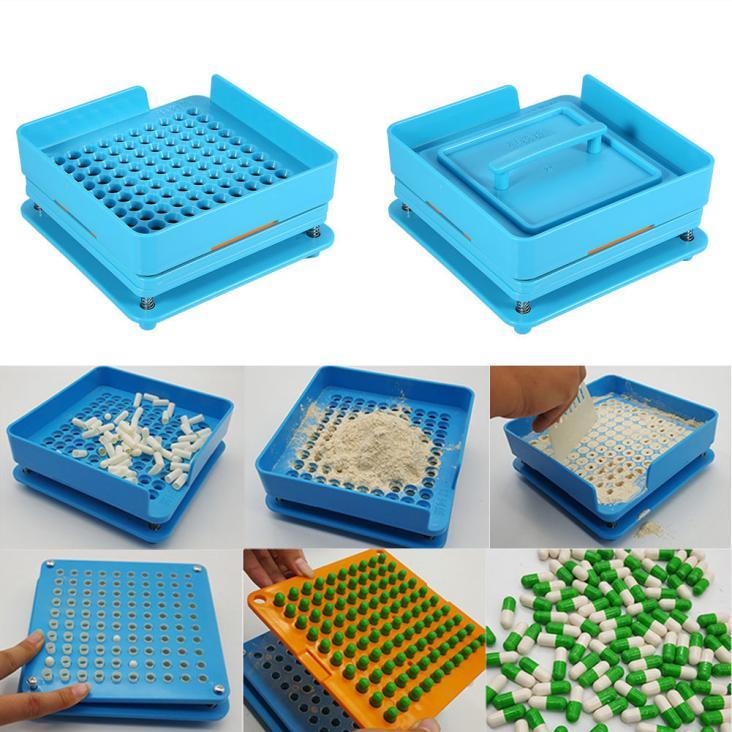 100 löcher manueller kapsel füllung maschine encapsuladora manuelle Kapsel füllstoff 0 Pulver Maker Pharma Füllstoffe Platte Maschine