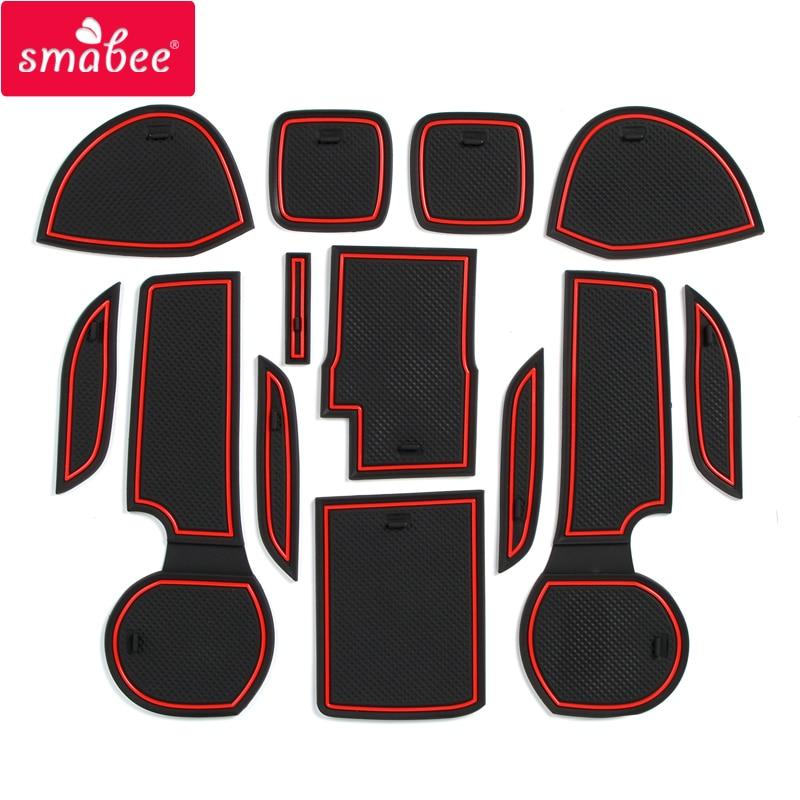 Anti-Slip Rubber Gate Slot Cup Mat For Suzuki SX4 S-Cross 2014 2015 2016 2017 2018 Maruti SX-4 SX 4 S Cross SCross Accessories