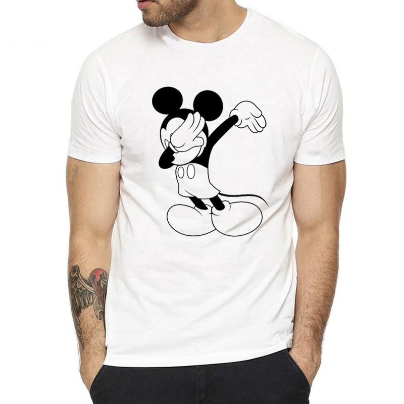 New Dabbing Mickey Mouse   T  -  Shirt   Newest Men Funny   T     Shirts   2019 Summer Fashion Dabbing Cupid/Dragon Ball/unicorn/tiger Cool Tops