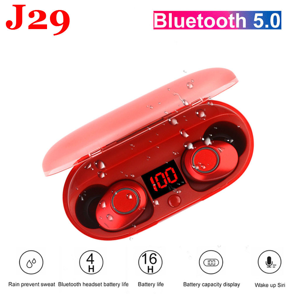 2018 Bluetooth 5.0 TWS Mini Wireless Ear buds Twins Earphone With Battery Case Hands Free headset Battery Display mini tws v5 0 bluetooth earphone port wireless earbuds stereo in ear bluetooth waterproof wireless ear buds headset yz209