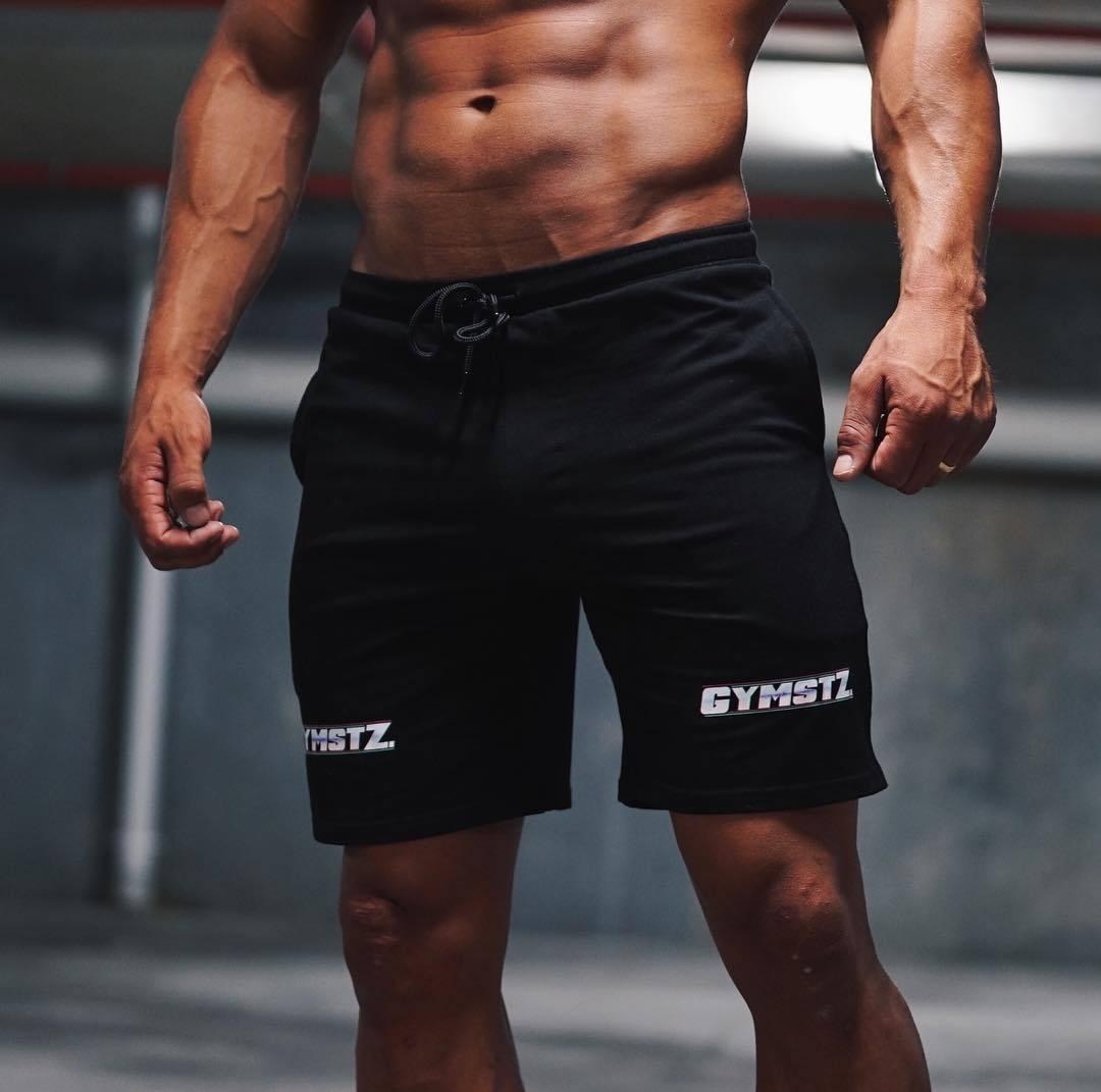 New Summer Fashion Mens Shorts Cotton Bodybuilding Sweatpants Breathable Fitness Beach Shorts Jogger Casual Gyms Men Shorts