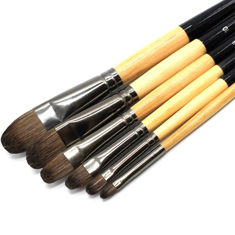 Hobby Runde Spitze, 2,4, 6, 8, 10, 12 6 Stück professionelle Malerei Pinsel Set Art Malerei liefert für Acryl Aquarell Ölgemälde