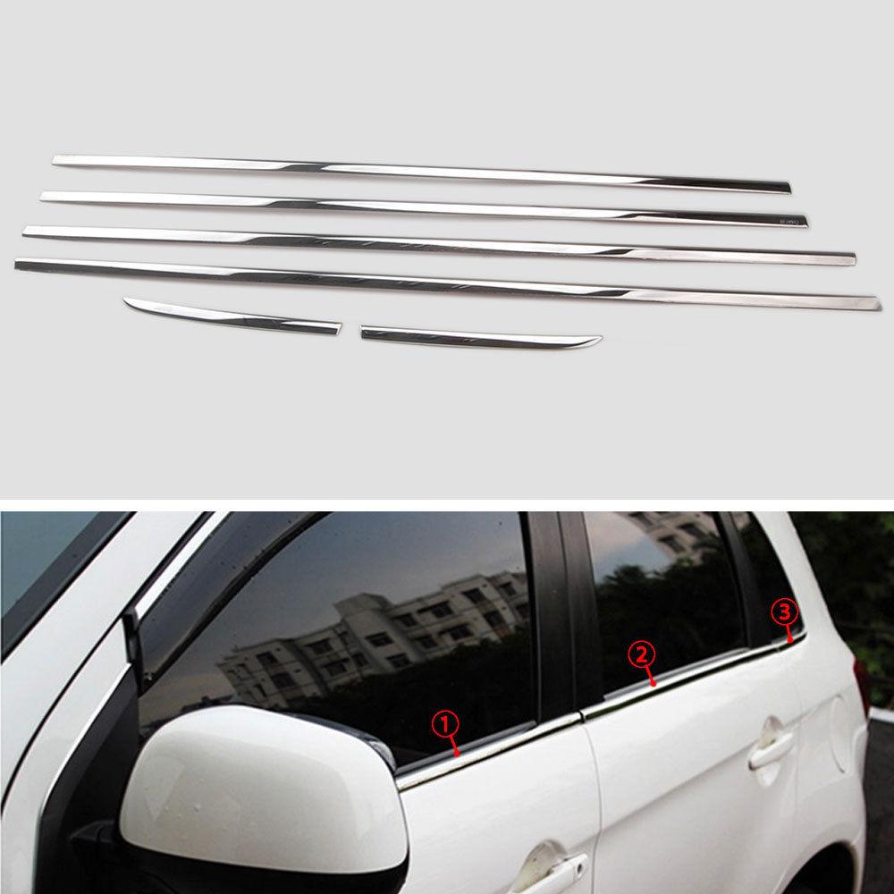 4x Front /& Rear Window Visor Vent Shade for Mitsubishi Outlander Sport 2011-2016