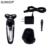 Surker recargable lavable máquina de afeitar eléctrica de triple cuchilla de afeitar eléctrica maquinillas de afeitar hombres cuidado facial 4d flotante bajo ruido rq-1280a