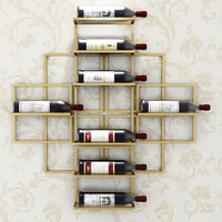 8 Bottles European Modern Simple Wall mounted Wine Rack Creative Hanging Wine Rack Support Red Wine Decoration Rack Wine Holder