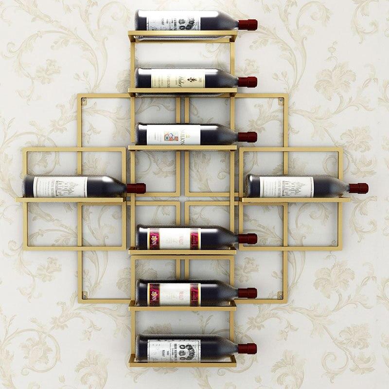 8 flaschen Europäischen Moderne Einfache Wand montiert Wein Rack Kreative Hängen Wein Rack Unterstützung Rotwein Dekoration Rack Wein halter-in Weinregale aus Heim und Garten bei  Gruppe 1