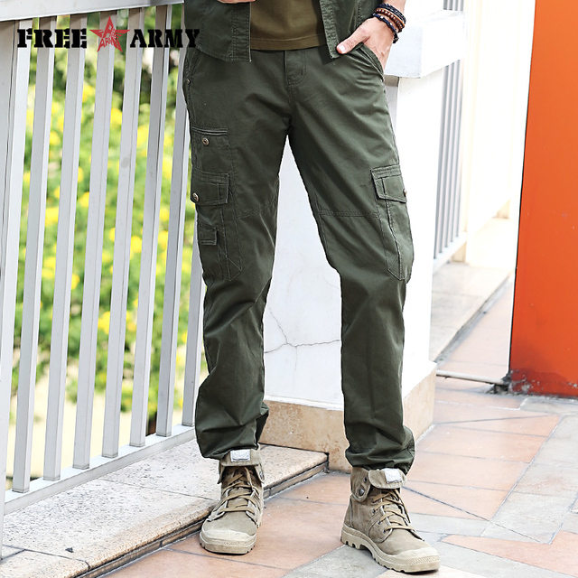 fdc8a1cbb6ebd7 Brand Quality Mens Joggers Pants Summer Casual Pants Trousers Men Army Green  Joggers Mens Fitted Sweatpants Jeans Male Mk-7195A