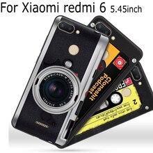 2PCS 5.45 For Xiaomi redmi 6 case Soft cases redmi6 cover retro cartoon phone red mi shell