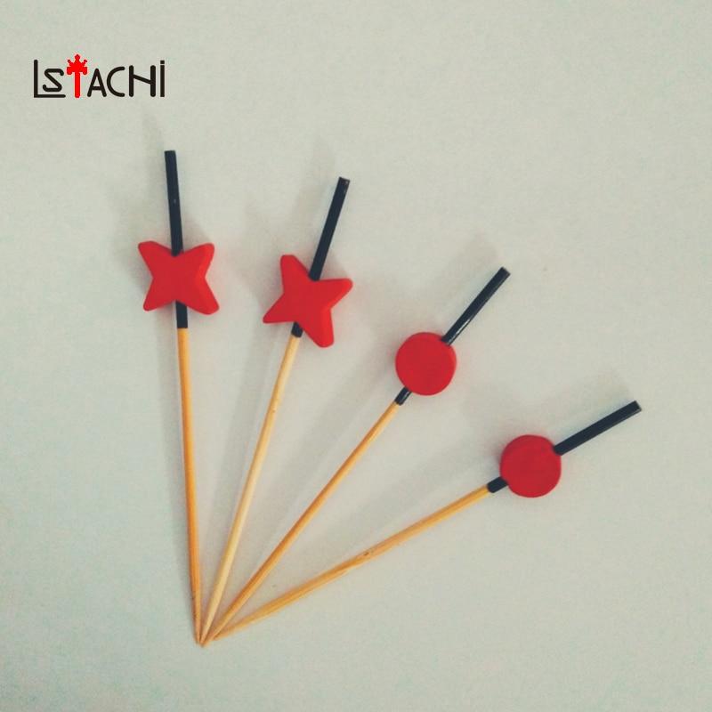 LSTACHi cure-dents jetables perles de fleur de prunier pics de bambou bâtons de nourriture Club de fête maison choix de fruits