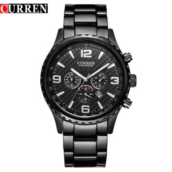 CURREN Top Brand Men's Sport Watch Military Quartz Male Clock Display Date Waterproof Wristwatch Relogio Masculino Reloj Hombre - discount item  44% OFF Men's Watches