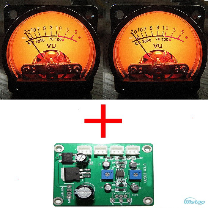 1pc Driver Board and 2pc VU Meters Input AC/DC 9-15V Match Our Sold VU Meter DIY Free Shipping