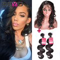 360 Lace Frontal With Bundle With Baby Hair Peruvian Body Wave With Closure 360 frontal With Bundles Natural Hairline Human Hair