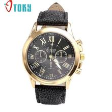 Hot Hothot Sales New Watch Women Roman Numerals Faux Leather Analog Quartz Wrist Watches Quartz Watch relogio feminino at1