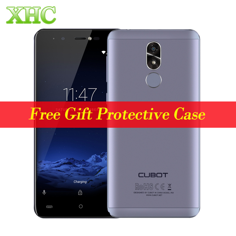 Original CUBOT R9 2GB+16GB Mobile Phones Fingerprint ID 5.0 '' Android 7.0 MTK6580 Quad Core 5MP+13MP Front Flashlight Cellphone