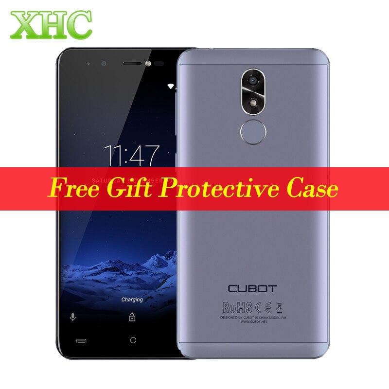 Original CUBOT R9 2GB+16GB Mobile Phones Fingerprint ID 5.0 '' Android 7.0 MTK6580 Quad Core 5MP+13MP Front Flashlight Cellphone