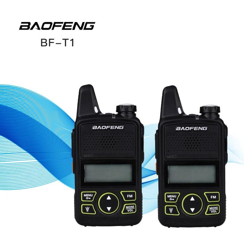 2 pcs BAOFENG BF-T1 Talkie Walkie Enfants Walk Talk MINI Two Way Radio UHF Portable Jambon FM CB Radio De Poche casque Émetteur-Récepteur