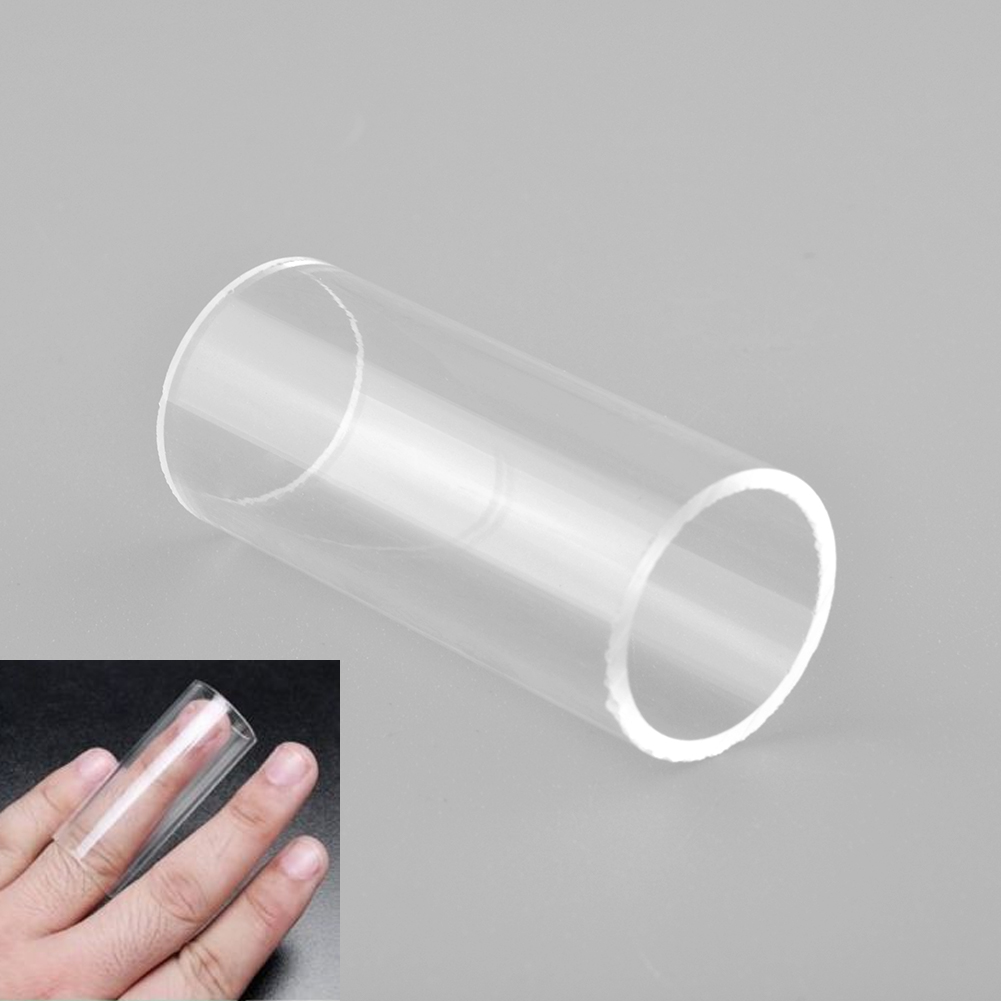 Wholesale 3PCS New High quality Guitar String Plexiglass Resin Slide Glass Bottle Finger Tube Knuckle 60x22mm Clear Useful
