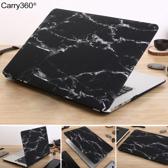 Carry360 Marble Texture Case For Apple Macbook Air Pro Retina 11 12 13 15 laptop bag For Mac book Air 13.3 With Touch Bar A1932