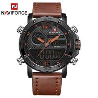 NAVIFORCE Brand Luxury Men Watch Fashion Sports Watches Men's Waterproof Quartz Date Clock Man Leather Army Military Wrist Watch