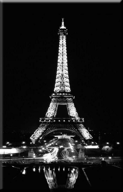 8pcs led lights,free shipping Wall Art with LED canvas eiffel tower ...